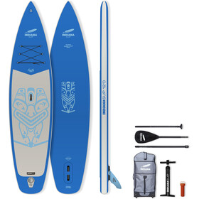 Indiana SUP 12'0 Family Pack with 3-piece Fibre/Composite Paddle, azul/gris